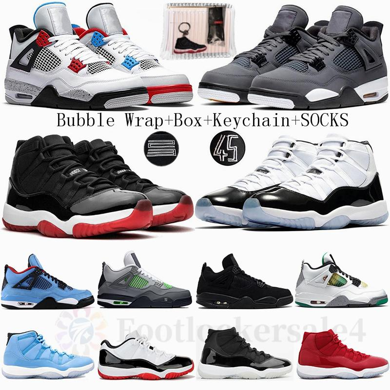 White Bred Cactus Jack Cool Grey 4 4s What The Basketball Shoes 11 11s Concord 45 Gamma Blue Pantone Jumpman Mens Sports Sneakers