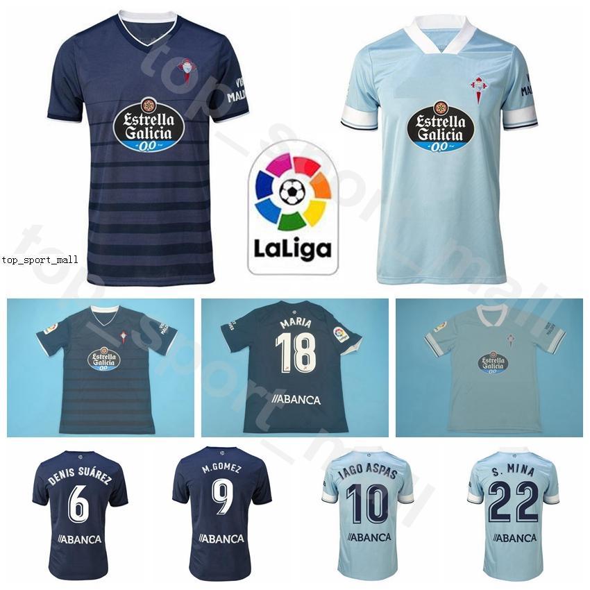 20 21 RC Celta de Vigo Jersey Soccer 10 IAGO ASPAS 22 MINA Rafinha Nolito Olaza SMOLO SISTO ARAUJO GOMEZ Fußball-Hemd-Kits