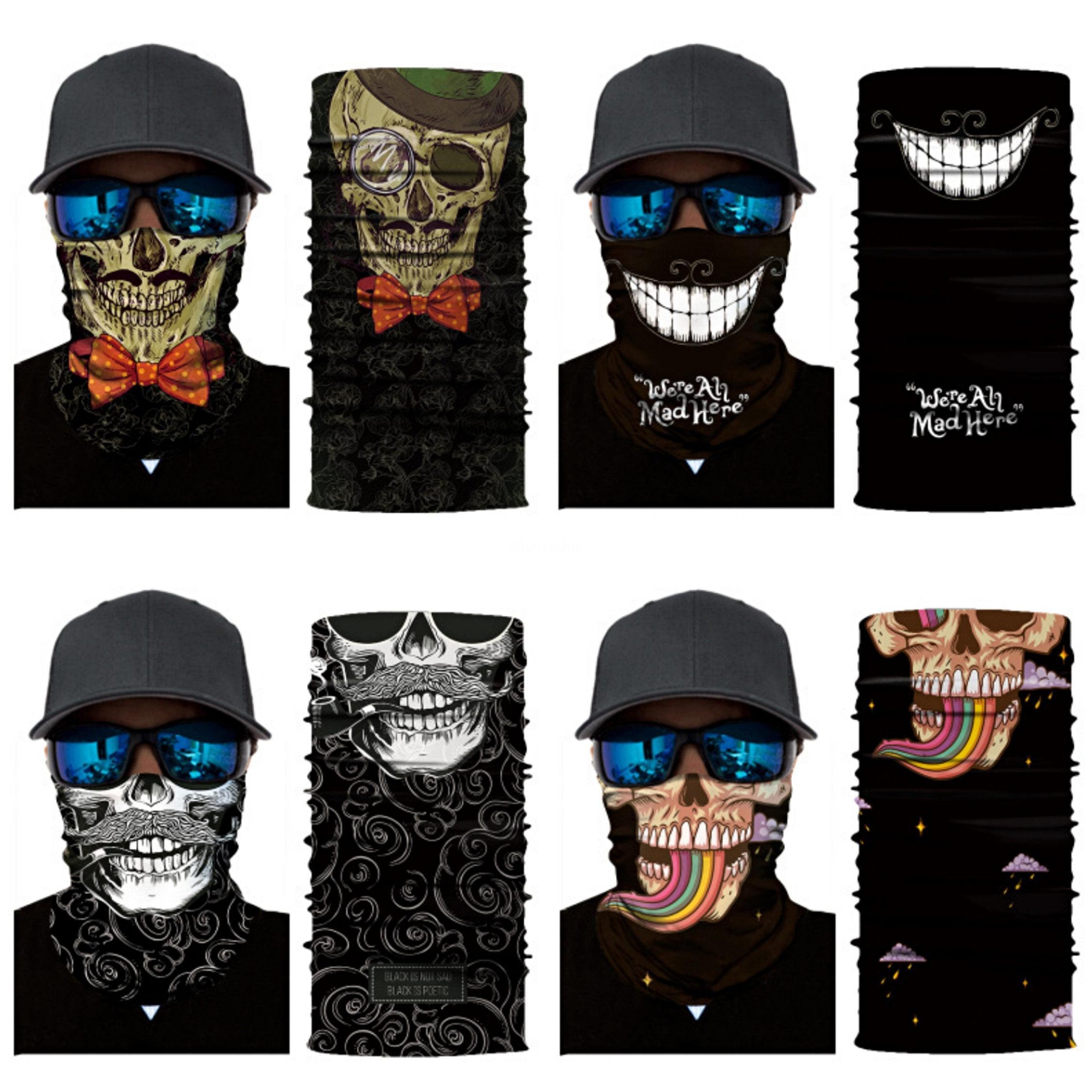 Cráneo 3D cielo estrellado sin fisuras Pañuelos de verano deporte al aire libre del pañuelo de Headwear Paseo Mágico cráneo Bufanda de ciclo de Halloween # 913