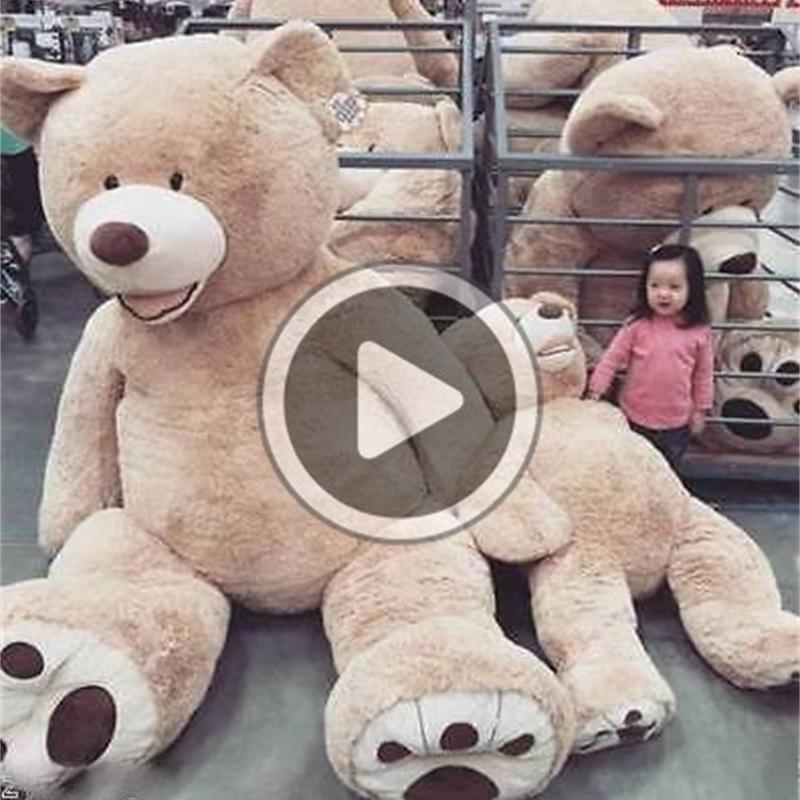 Hot 200 centimetri 300 centimetri 340 centimetri giocattolo gigante pelle dell'orso americano Orso peluche Teddy Bear pelle d'orso regalo