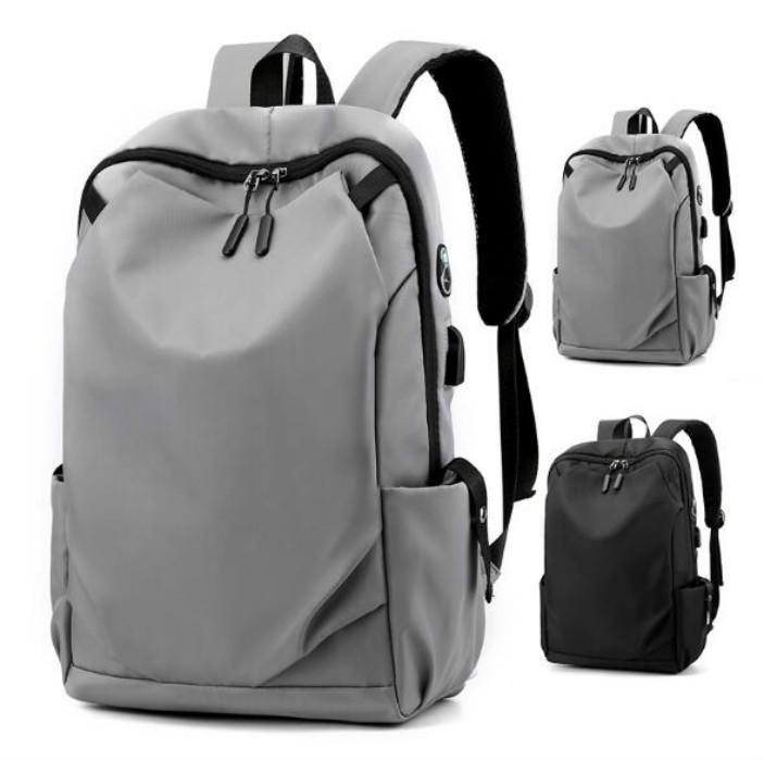 Viaje al aire libre del hombre del morral Mochilas Llanura de nylon de gran capacidad de bolsa de viaje unisex de escolar del USB