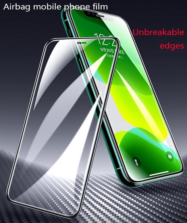 Mise à niveau de protection Film Trempé de bord Airbag PC Convient pour iPhone X Edge Film Trempé non sécable est utilisé