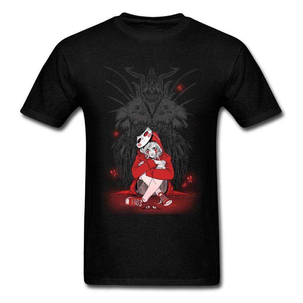 Хип-хоп Популярные Man Tshirts Пользовательские Tops рубашка 100% хлопок Ткань Crewneck с коротким рукавом Печатный На тенниска Зло Сатана Demon