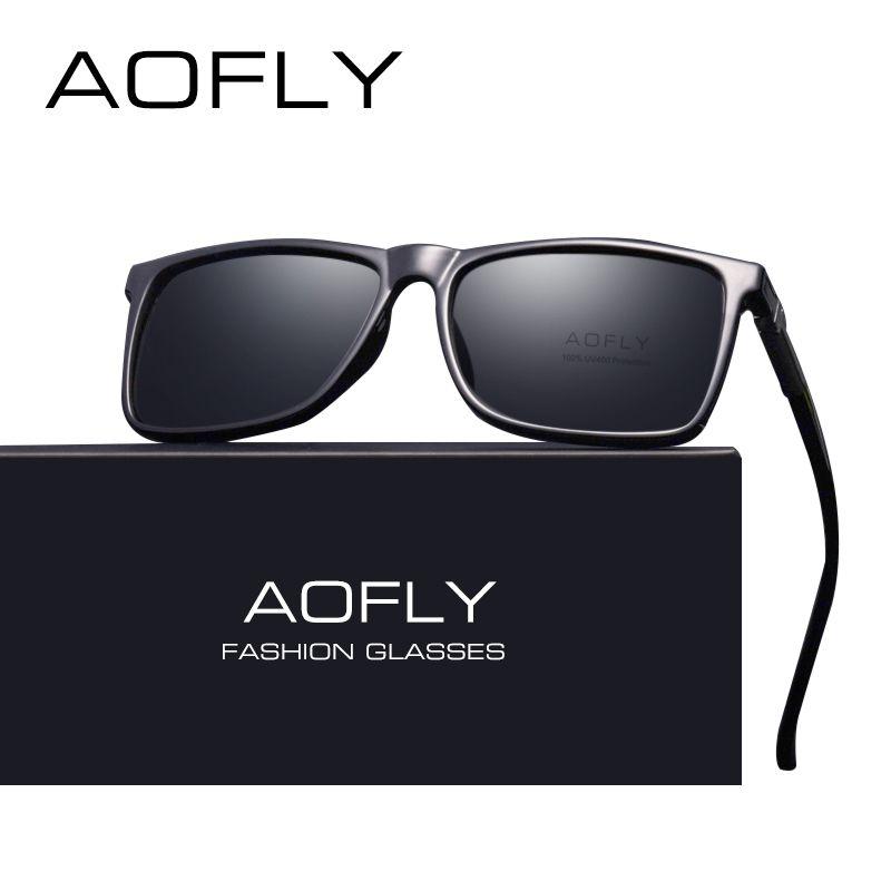 Condução design marca clássico preto óculos de sol eyewear homens uv400 tons óculos AOFly macho sol polarizado oculos vintage dbstl