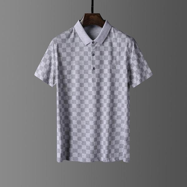 Camisa de manga curta preta T-shirt novo Polo Classic French Homens Burburry Boros clássico projeto do bordado de homens Homens