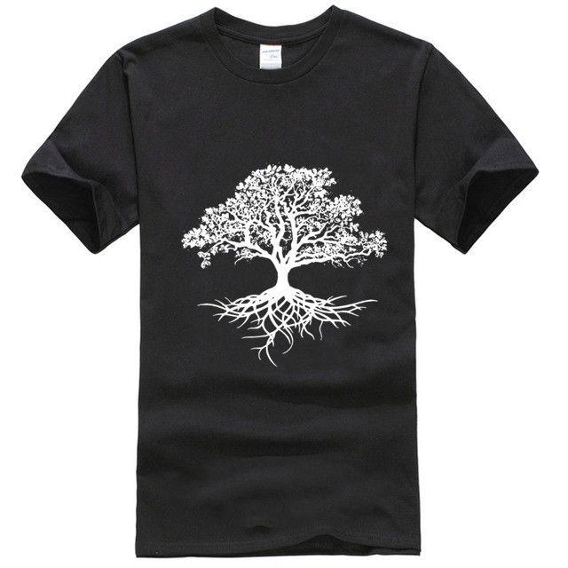 Kurz Männer Hülse T-Shirt Baum des Lebens T-SHIRT WICCA DRUID HEIDNISCHE GÄRTNER mit kurzen Ärmeln