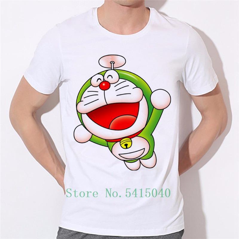 Sommer Kurzarm T-Shirts Anime-Karikatur Doraemon Mann Shirts Jugend Mode-Mann-Marken
