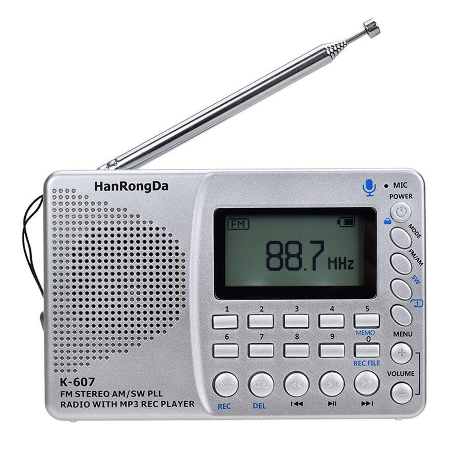 Dsp Fm Stereo Radio Am Sw с Time Display Card Line -In Recorder Многофункциональный радио Mp3-плеер