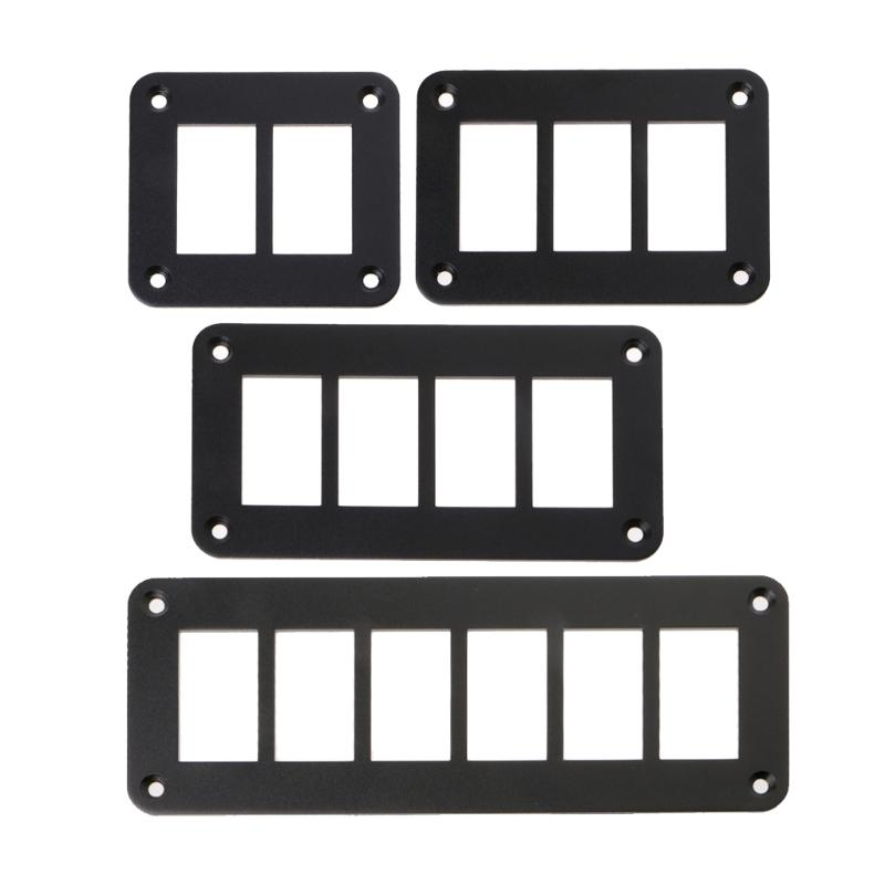 OOTDTY 2/3/4/6 Way Aluminum Rocker Switch Panel Housing Holder FOR ARB Carling Narva Boat Type Auto Parts Switches Parts