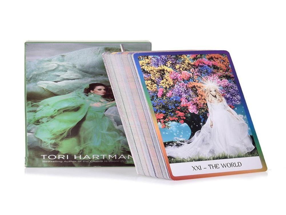 Chakra Jogos Game Jogos presente Playing Inglês Cartão Family Entertainment Board Tarot 78pcs sabedoria O Cartões Partido baralho de tarô AmCGI