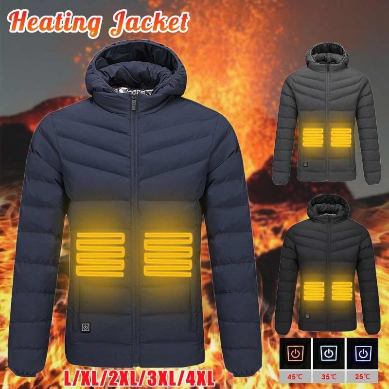 USB eléctrica inteligente caliente de calefacción calentador Coats climatizada chaqueta para los hombres de las mujeres térmica escalada al aire libre Coats Senderismo