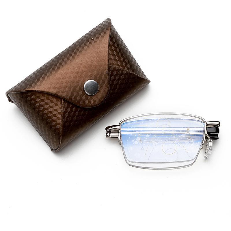 Multifocale progressiva Multifocus pieghevole pieghevole occhiali da lettura di transizione da sole Uomini Eyewear Hyperopia Presbiopia Reader