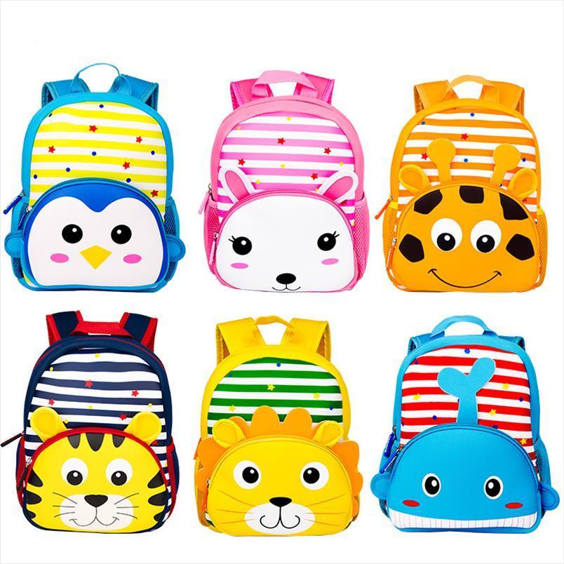 Schulkind Neue Nette Kinder Cartoon Rucksack Kinder Schultasche Mochila 3D Tier Für Tasche Taschen Mädchen Jungen Kindergarten Infantil OOCTD