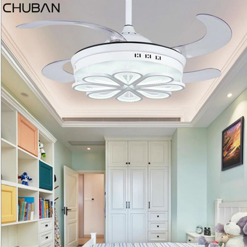 Высокое качество Современные светодиодные Потолочный вентилятор свет лампы LED Невидимый Потолочные вентиляторы свет с пульта дистанционного управления лампы DC85-265V Hot