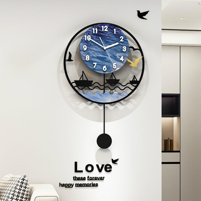 Luxury Art Horloge murale pendule Grande conception moderne simple Nordic Living Wall Creative Chambre Horloge Reloj Pared Home Decor DA60WC