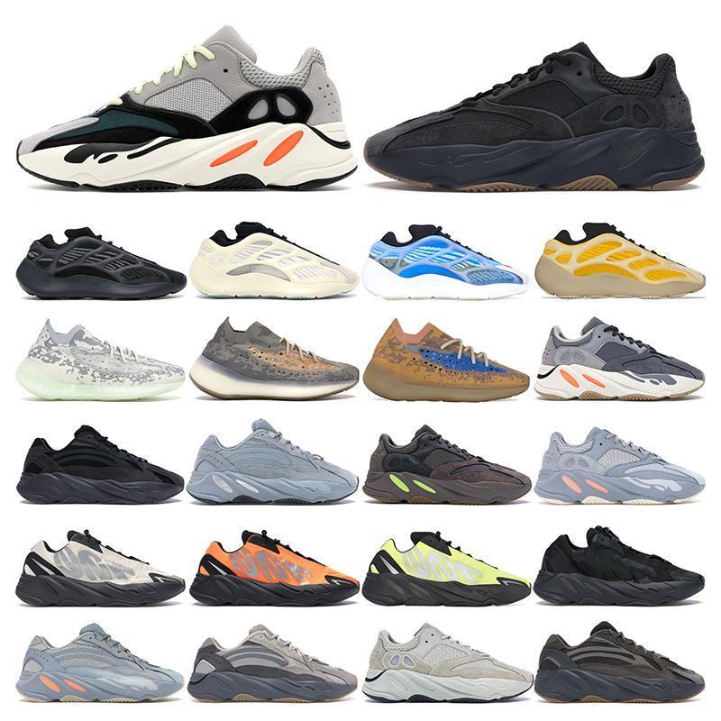 Kanye 700 para hombre de las zapatillas de deporte de los zapatos corrientes Azael Alvah Utilidad Negro corredor de la onda Vanta Mnvn Naranja malva mujeres forman el deporte al aire libre cómodo
