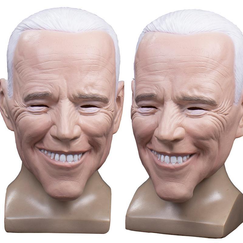 «Джо» Байден латексные маски Реалистичные кандидат Celebrity Демократическое Президентская Президентская Латекс маска Halloween Cosplay маски