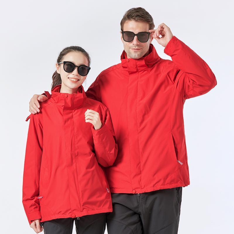 남성 트렌치 코트 3 옥외 자켓 Softshell 윈드 브레이커 방수 후드 비가 코트 따뜻한 양털 남자 여성 스키 클라이밍 여행