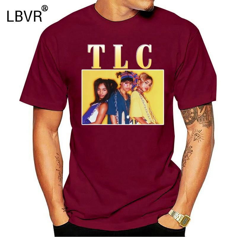 Hombres camiseta VENDIMIA TLC camiseta de las mujeres camiseta
