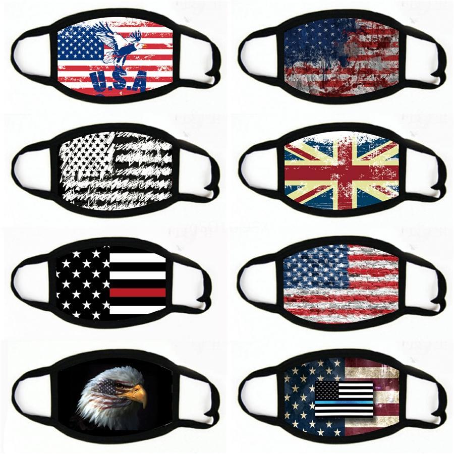 Gesichtsmaske US-Präsident Designer Letters Printed Junge Mädchen Maske 2020 Flag Staub Nebel Marke wiederverwendbare waschbare Masken # 387