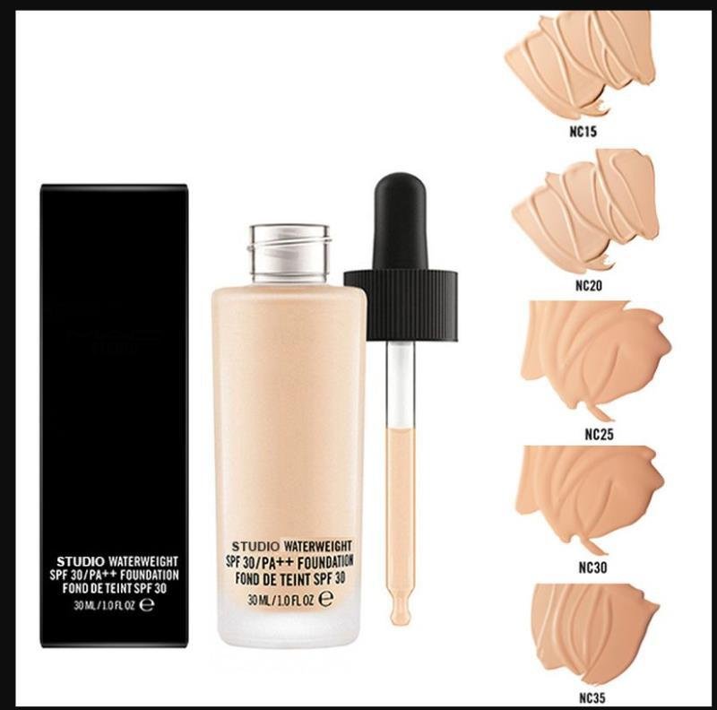 Face Makeup Studio Foundation 30ml Studio Waterweight Foundation SPF 30 liquid Concealer 6 colors NC15 NC20 NC25 NC30 NC35 NC40