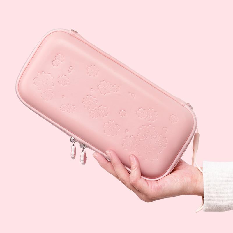 Симпатичный розового Sakura хранение сумка крышка чехол для Switch / Переключатель облегченного портативного Путешествия Сумки для переноски игровых аксессуаров