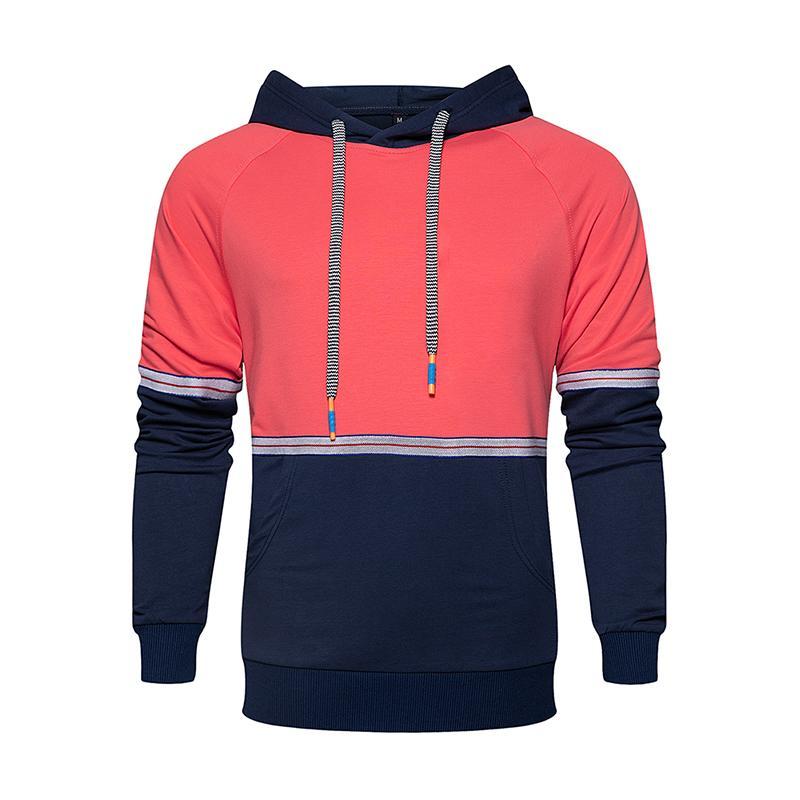 Outwear Hoodies Men Winter 2020 New Arrival Mens Hooded Sweatshirt Patchwork Streetwear Pullover Man Fitness Clothing Streetwear T200917