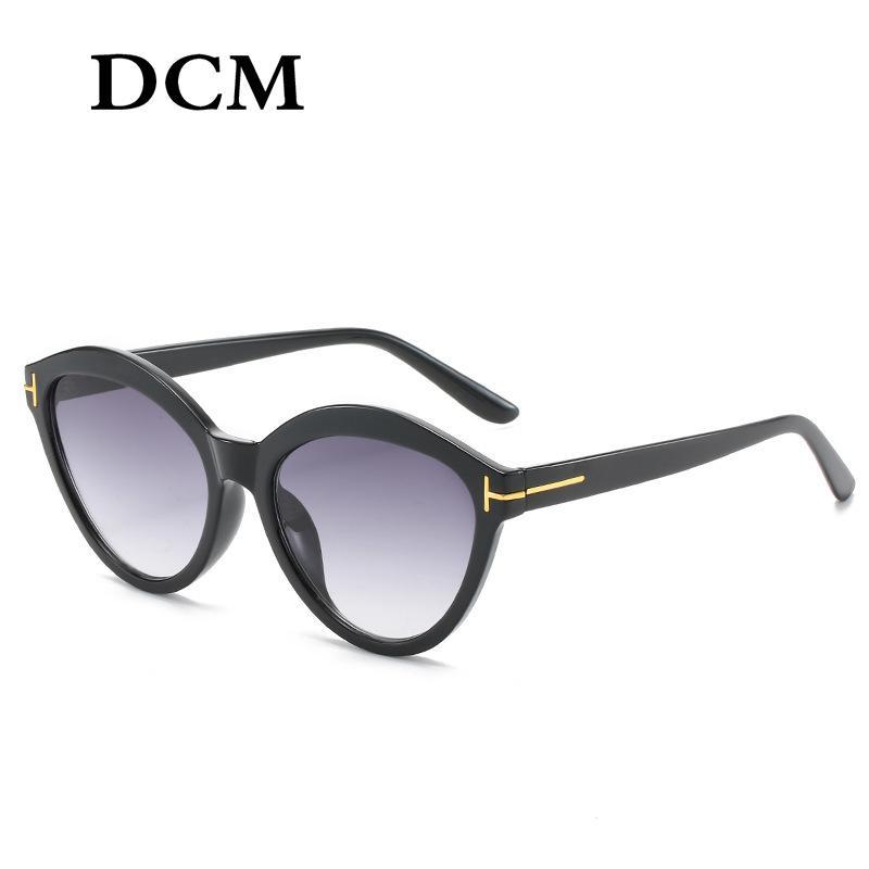 DCM Новый раунд Vintage солнцезащитные очки женщин Мода ретро Марка Дизайнер Мужчины Солнцезащитные очки UV400