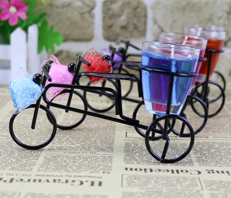 (4шт) Творческий велосипед свечи, украшенные желе свечи партии праздник подарки на день рождения свадьба специальное