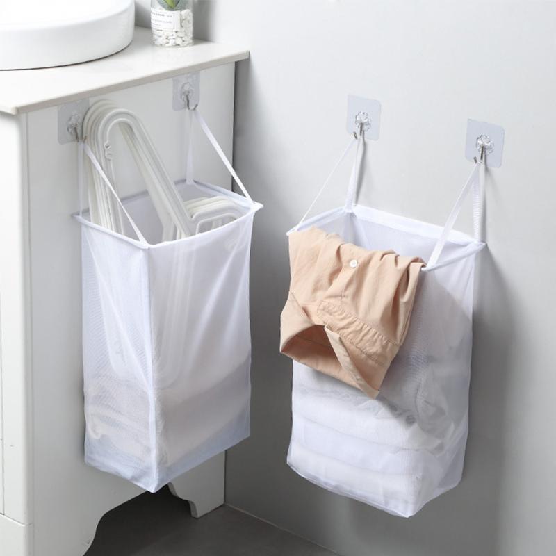 Tragbarer Wäschekorb Unterwäsche Socken Barrel Eimer Wandbehang Kleidung Aufbewahrungstasche Faltbare Badezimmer Wäscherei Organizer