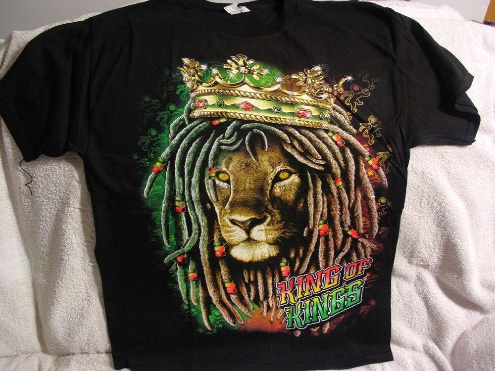 Lion Of Juddah Dreadlocks Re dei Re Corona rasta T-Shirt