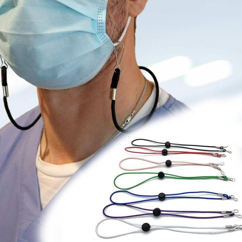 Mask Extension Rope With Blukle Adjustable Mask Lanyard Mask Hanging Rope Handy&Convenient Rest Holder Rope Hang On Neck