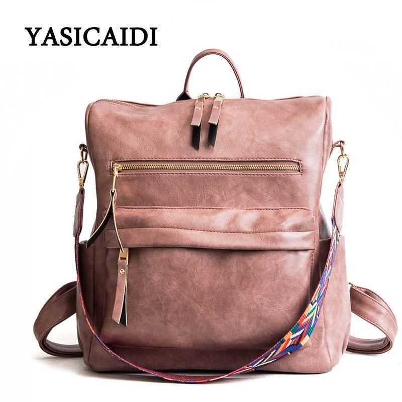 Pu кожа Рюкзаки для женщин Моды Pu Кожа Женского рюкзаков Ladies Back Pack Bagpack Laptop Backpack женщин водонепроницаемых