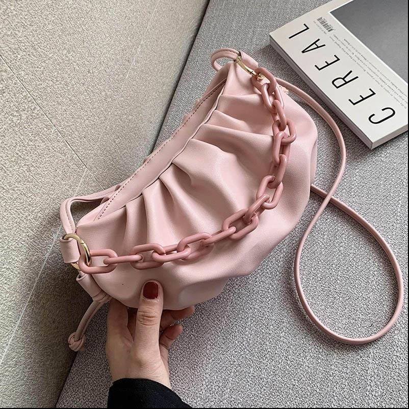Candy Color Cross Bags For Women 2020 Summer Cute Shoulder Simple Bag Lady Crossbody Handbags