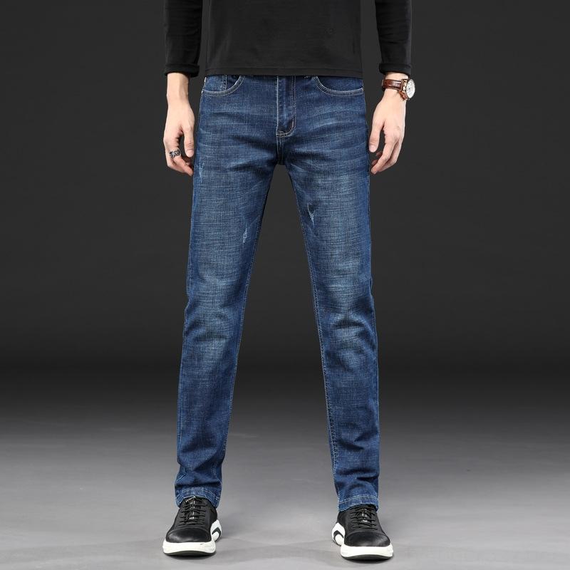 Herren-Jeans 2020 Frühjahr / Sommer nan shi ku Sommer neue neue koreanische Stretch dünnen Sitz gerade Hosen einfache Geschäfts Hosen für Männer ZrM0M Zr