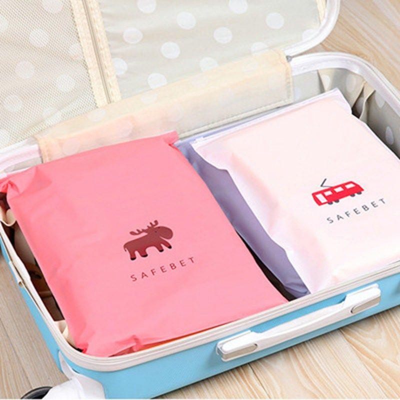 Almacenaje del recorrido Elk pequeña bolsa de cosméticos bolsa de bolsa de la cremallera portátil zapatos impermeables ropa del armario de la ropa interior clasificación caja Wash