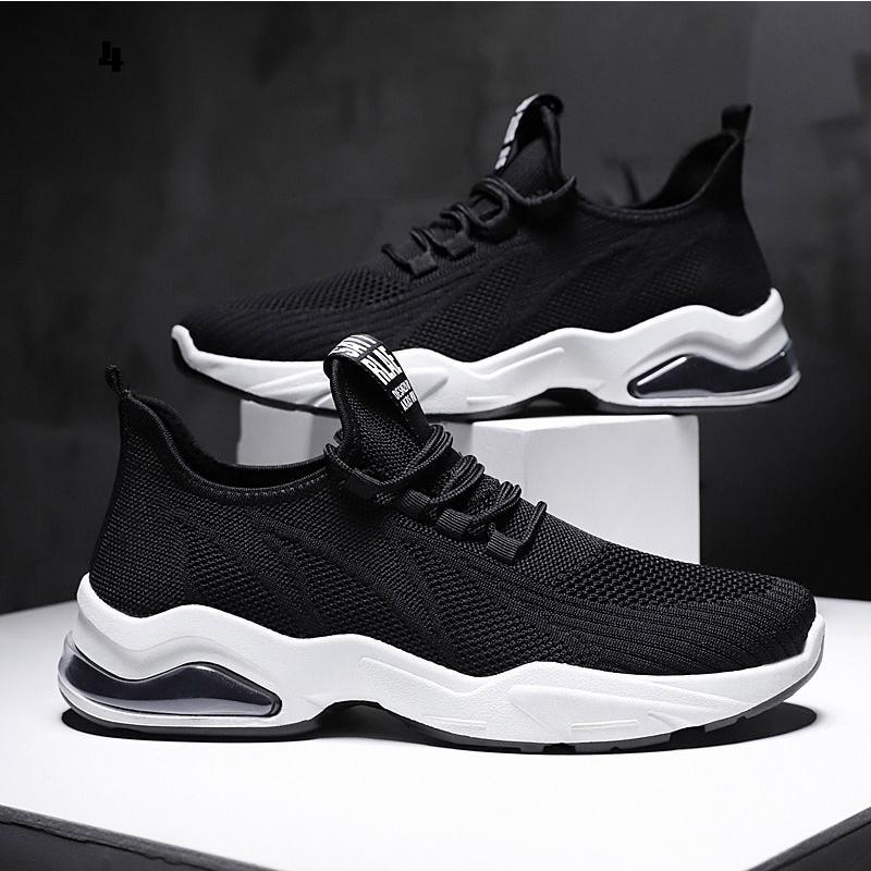 con los calcetines libres de la manera caliente de 2020 hombres blancos negros zapatos casuales para hombre zapatillas de deporte entrenadores transpirable jogging zapatos para correr TAMAÑO 39-44 ar