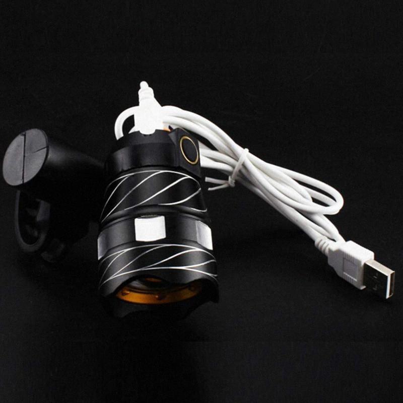 USB aufladbare LED-Fahrrad-Fackel-Licht, super helle, wasserdicht Fahrrad-vorderes Licht-Sicherheits-Rücklicht GK86 #