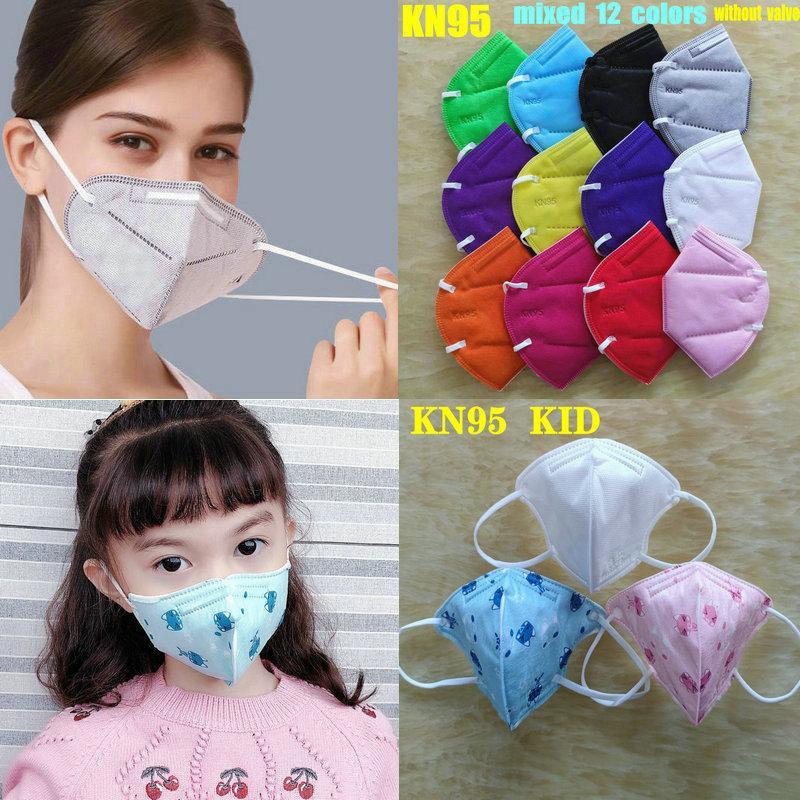 12 ألوان kn95 قناع مصنع 95٪ تصفية الكبار وطفل ffp2 قناع ملون الكربون المنشط التنفس 6 طبقة مصمم الوجه قناع الوجه أعلى بيع