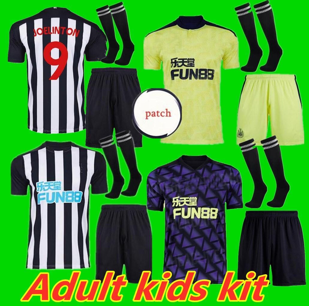 Взрослый Kids Kit 20 21 N Ewcastle Ritchie Soccer Technys Home Out Tair United Joelinto 2020 2021 Home Lascelles Шелвей Футбол Едлин Ш
