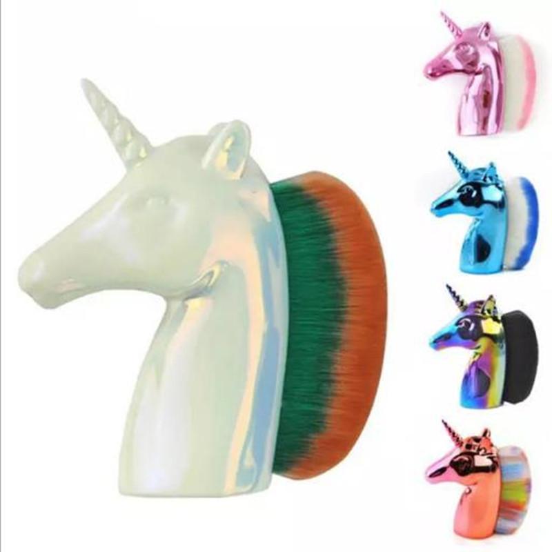 Maquillage Brosses Unicorn cheval Holder Rainbow fond de teint poudre fard à joues Contour Big Maquillage unicornio pincel outil de beauté