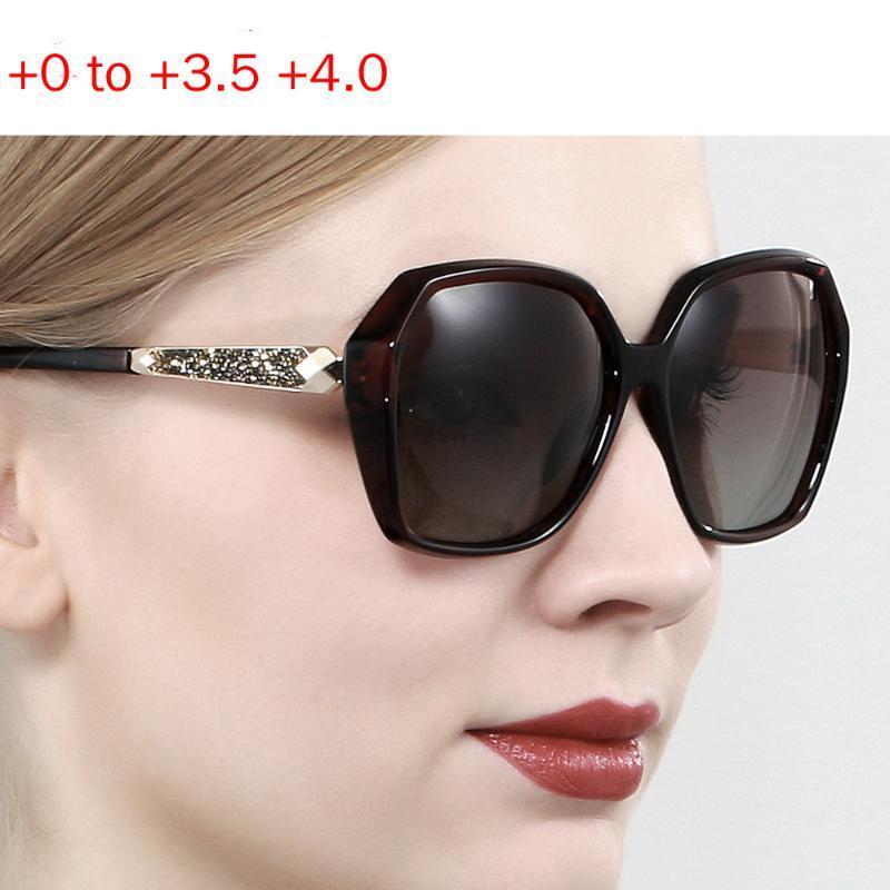 Óculos de leitura de moda moda bifocals mulheres óculos de sol multifocais óculos de diamante feminino olhar perto distante presbiopia nx cvfxb