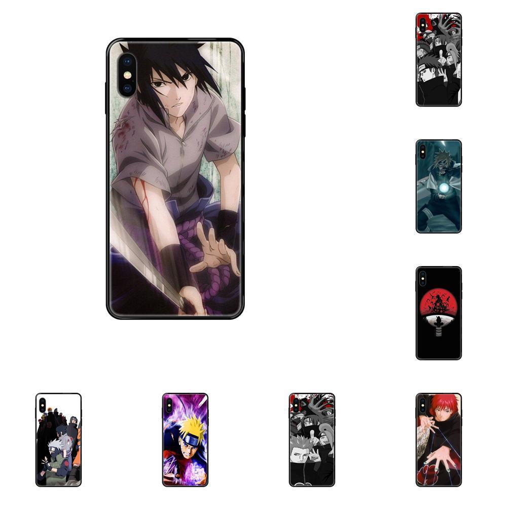 Luxo Moda Telefone Caso Anime Naruto Akatsuki para o iPhone 11 12 Pro 5 5S SE 5C 6 6S 7 8 X XR XS Além disso Max