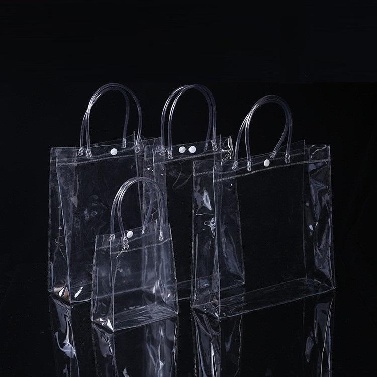 PVC Sacs à main sac de maquillage cosmétiques Emballage cadeau universel en plastique Sacs bouton Effacer 6 tailles pour choisir WB2647
