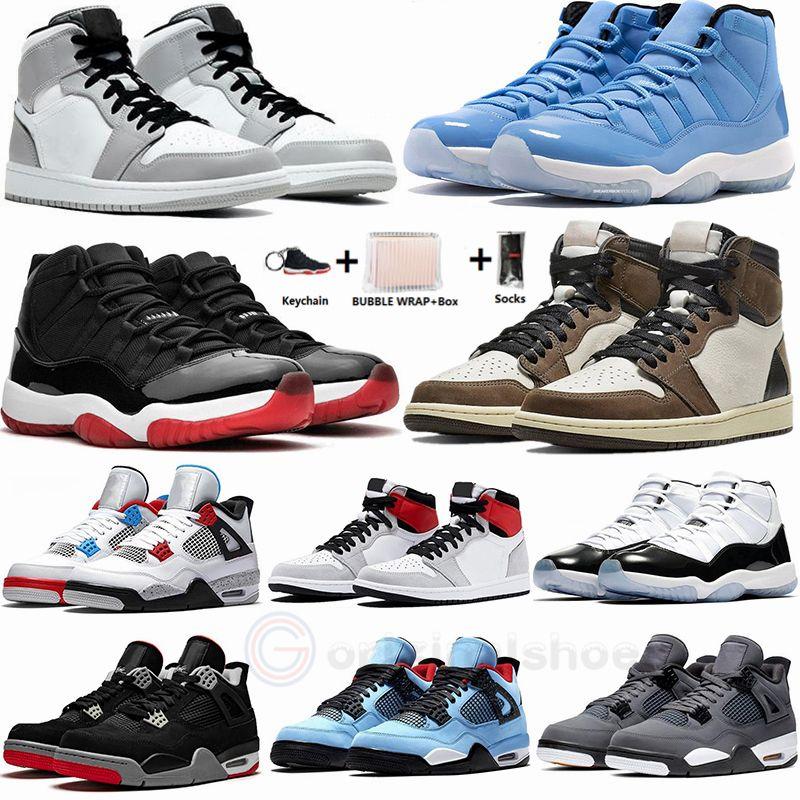 1 1S تكبير المتسابق الأزرق ترافيس سكوتس 1 أحذية كرة السلة 4S ما أسمنت صبار جاك وايت ولدت 11 بانتون كونكورد 45 رجل مدرب حذاء رياضة