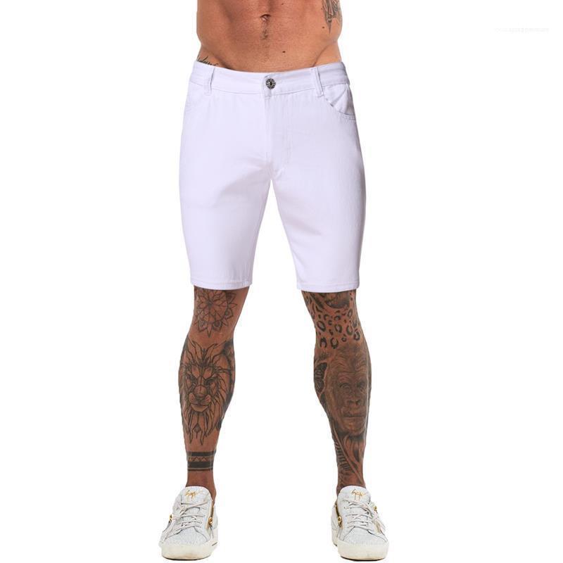 Hetero Zipper Fly joelho Jeans Mens Short Jeans Moda Shorts Cor Natural com o Pocket Casual