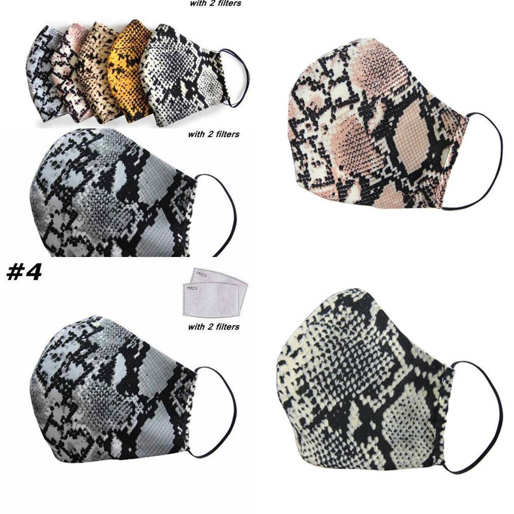 Maskeler Yüz Polyester Yıkanabilir Kadın Pamuk Yeniden kullanılabilir Leopar toz geçirmez Anti-Pus PM2.5 RSHS YI401 Maske