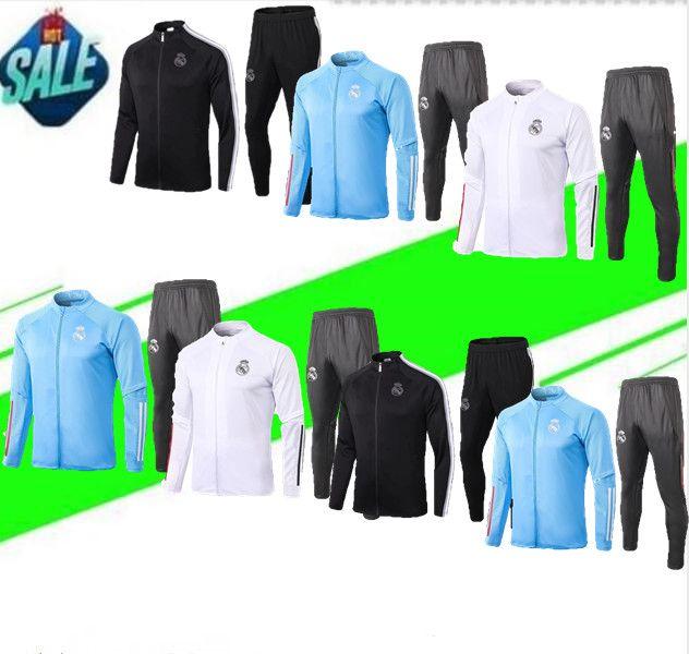 2020 2021 Real Madrid TRACKSUIT Fußballtrainingsanzug Jacke 20/21 camiseta de futbol GEFAHR REAL MADRID Jogging Fußball Anzug