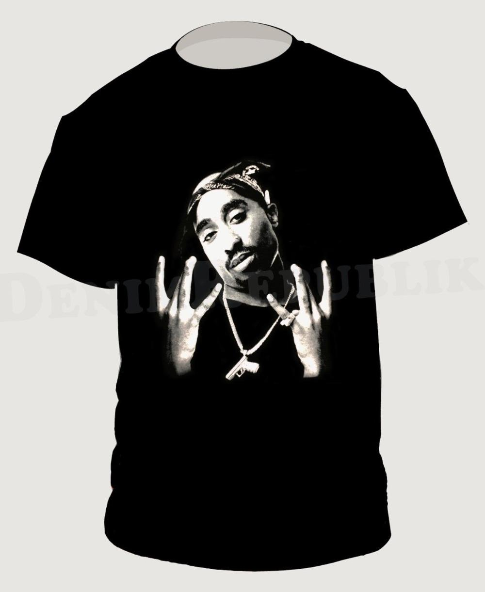 2Pac Batı Yakası Erkekler'S Siyah Tişört Machiaveli Yeni Hip Hop Tee Tupac La Rapçi 2019 Yeni Erkekler Kısa Kollu komik Casual T Shirt