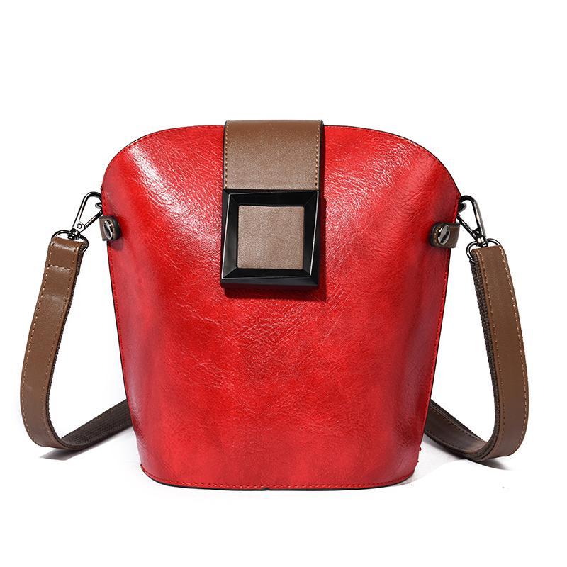 Sac de rabat Messenger pour les sacs à bandoulière en cuir femelle pour une bandoulière Vintage Fille principale 2020 Petit Crossbody Femmes Sacs Femmes Un sac Wxrtn